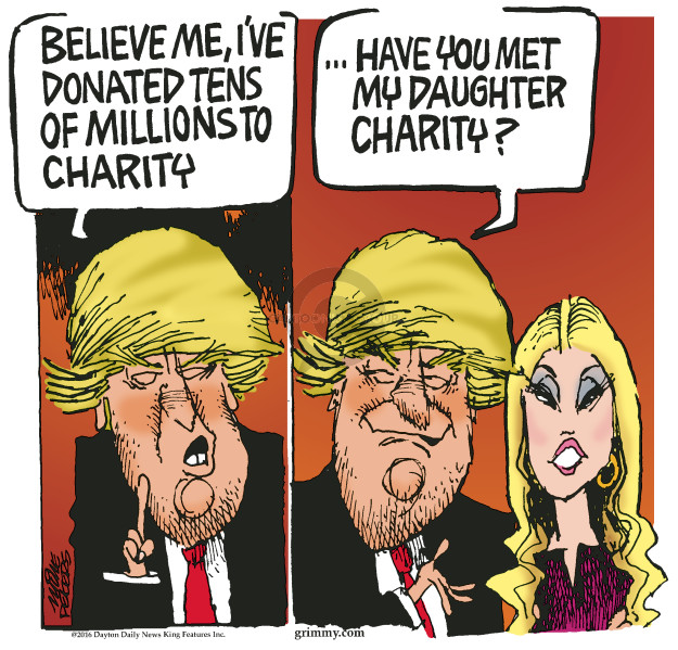 Mike Peters  Mike Peters' Editorial Cartoons 2016-09-14 Trump Foundation