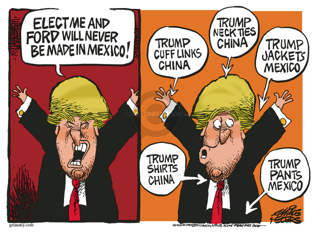 Cartoonist Mike Peters  Mike Peters' Editorial Cartoons 2016-09-16 business