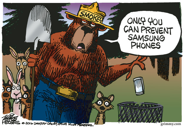 Smokey. Only you can prevent Samsung phones.