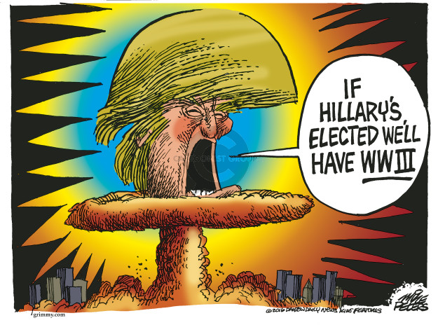 Cartoonist Mike Peters  Mike Peters' Editorial Cartoons 2016-10-27 Clinton