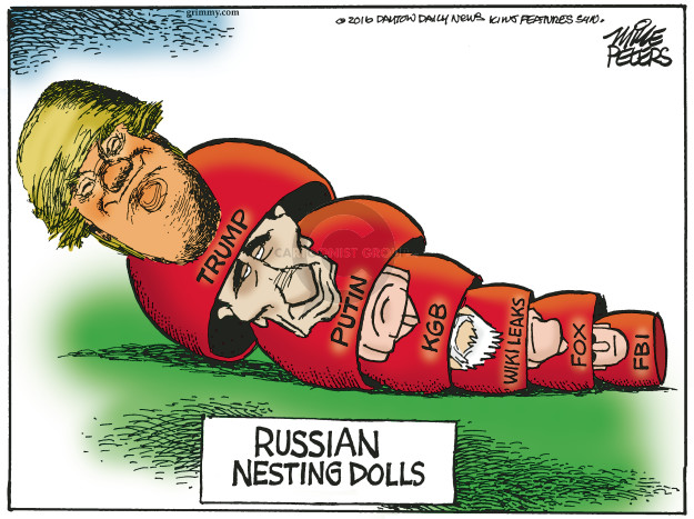 Cartoonist Mike Peters  Mike Peters' Editorial Cartoons 2016-11-02 Vladimir Putin