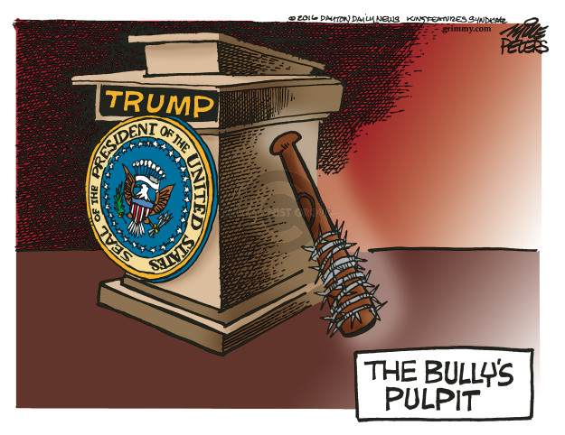 Cartoonist Mike Peters  Mike Peters' Editorial Cartoons 2016-11-09 candidates republicans