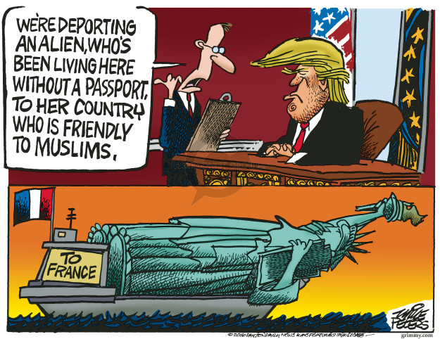 Mike Peters  Mike Peters' Editorial Cartoons 2016-11-30 Trump Immigration