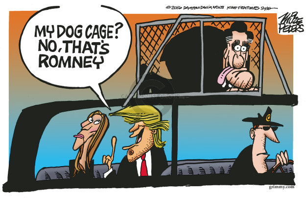 Cartoonist Mike Peters  Mike Peters' Editorial Cartoons 2016-12-01 Mitt Romney