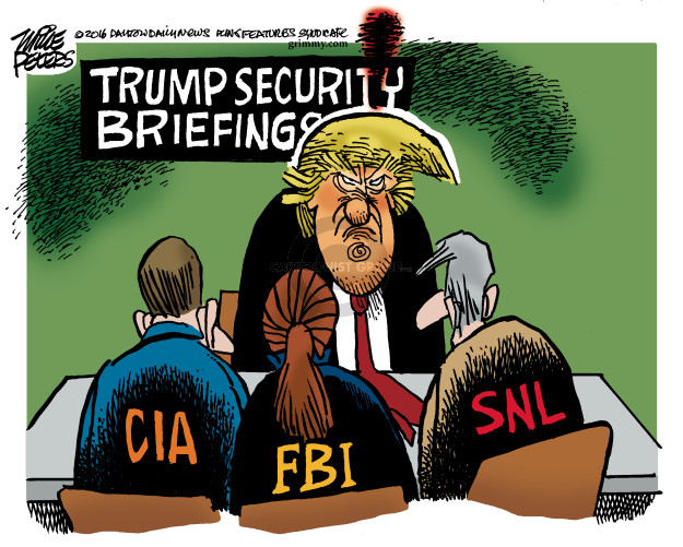 Cartoonist Mike Peters  Mike Peters' Editorial Cartoons 2016-12-10 CIA