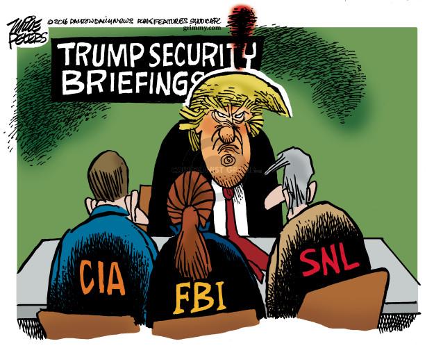 Cartoonist Mike Peters  Mike Peters' Editorial Cartoons 2016-12-10 CIA