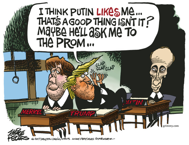 Cartoonist Mike Peters  Mike Peters' Editorial Cartoons 2017-01-12 Vladimir Putin