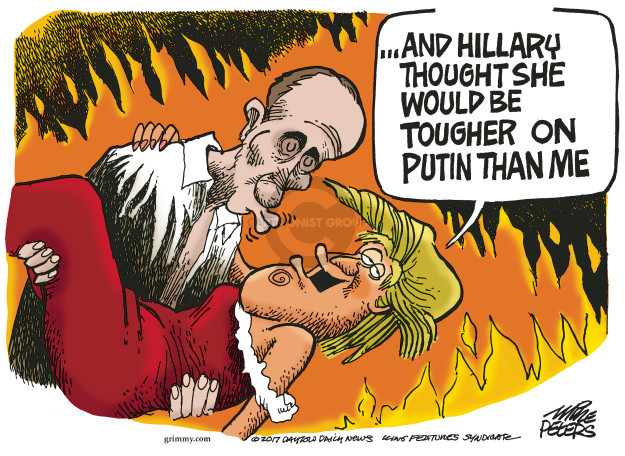 Cartoonist Mike Peters  Mike Peters' Editorial Cartoons 2017-01-18 Vladimir Putin