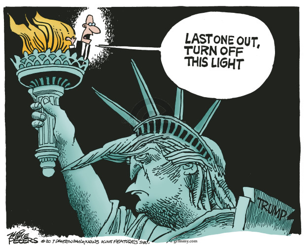 Mike Peters  Mike Peters' Editorial Cartoons 2017-01-20 Trump administration