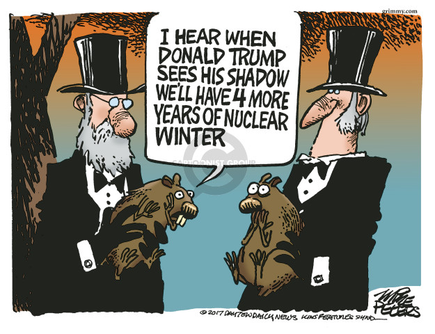 Cartoonist Mike Peters  Mike Peters' Editorial Cartoons 2017-02-02 nuclear weapon