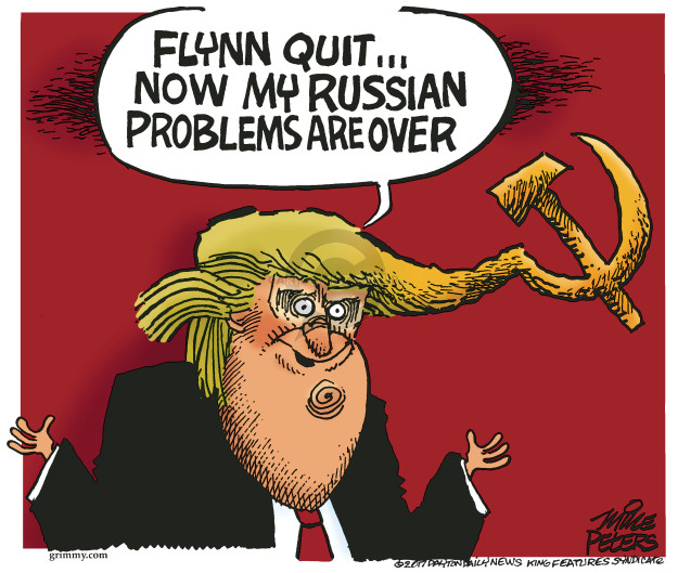 Mike Peters  Mike Peters' Editorial Cartoons 2017-02-15 Trump administration