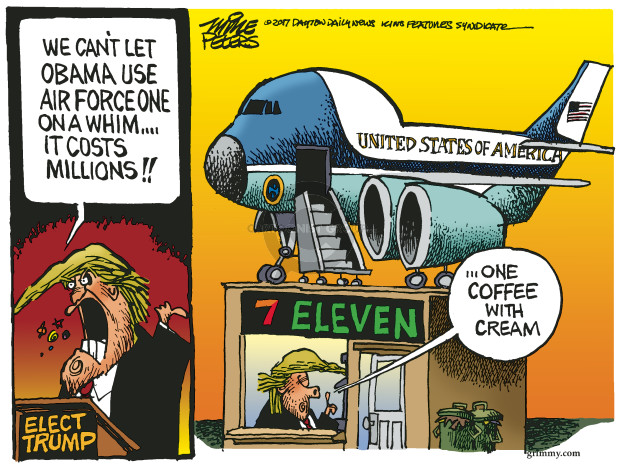 Cartoonist Mike Peters  Mike Peters' Editorial Cartoons 2017-02-22 airplane