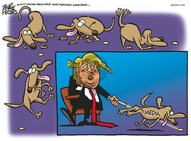 Mike Peters  Mike Peters' Editorial Cartoons 2017-03-10 media distraction