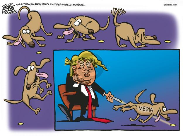 Cartoonist Mike Peters  Mike Peters' Editorial Cartoons 2017-03-10 distract