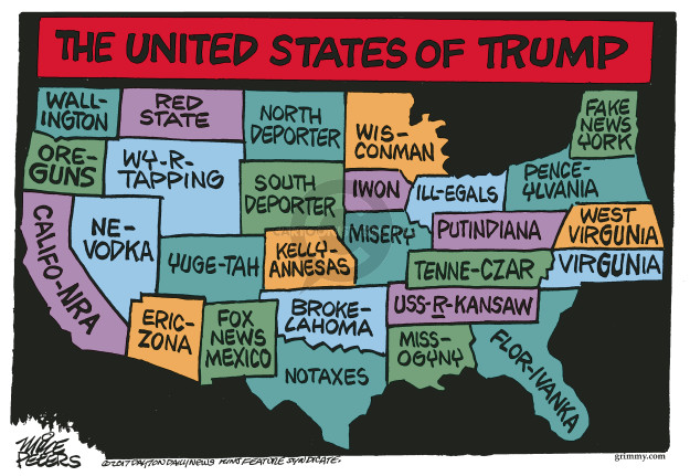 Mike Peters  Mike Peters' Editorial Cartoons 2017-03-24 Trump administration