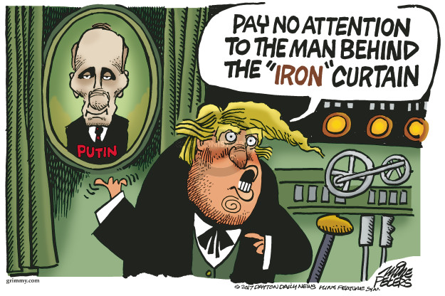 Cartoonist Mike Peters  Mike Peters' Editorial Cartoons 2017-05-09 Vladimir Putin