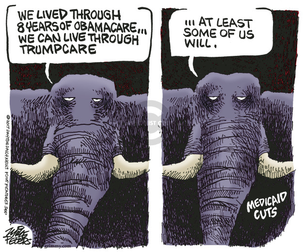 Cartoonist Mike Peters  Mike Peters' Editorial Cartoons 2017-06-29 congress health care