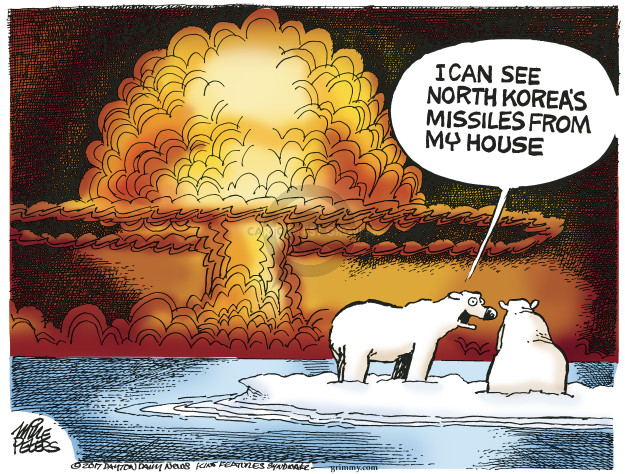 Cartoonist Mike Peters  Mike Peters' Editorial Cartoons 2017-08-02 nuclear weapon