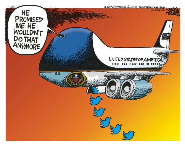 Mike Peters  Mike Peters' Editorial Cartoons 2017-08-03 Air Force One