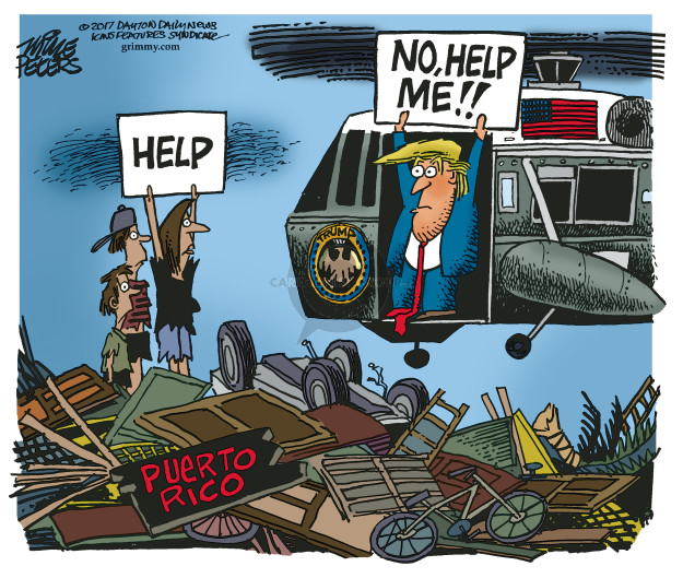 Cartoonist Mike Peters  Mike Peters' Editorial Cartoons 2017-09-28 storm