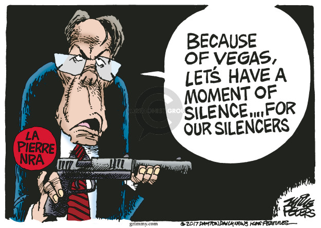 Because of Vegas, lets have a moment of silence … for our silencers. La Pierre NRA.