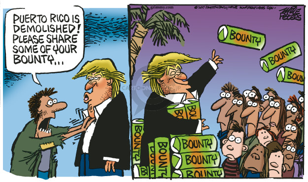 Cartoonist Mike Peters  Mike Peters' Editorial Cartoons 2017-10-06 devastation