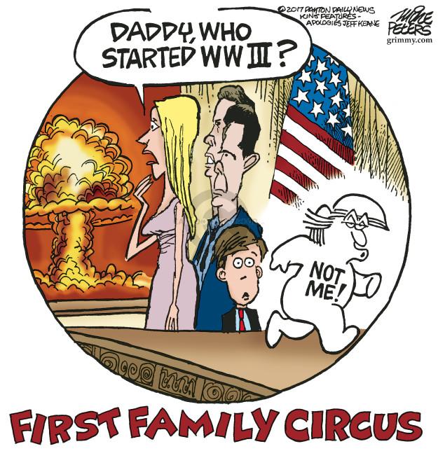 Cartoonist Mike Peters  Mike Peters' Editorial Cartoons 2017-10-18 world