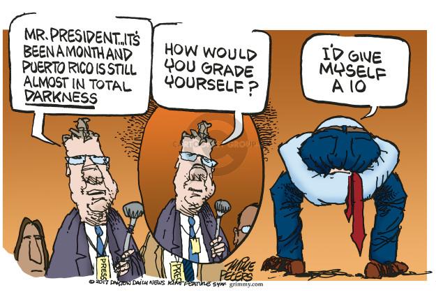 Mike Peters  Mike Peters' Editorial Cartoons 2017-10-23 Presidency