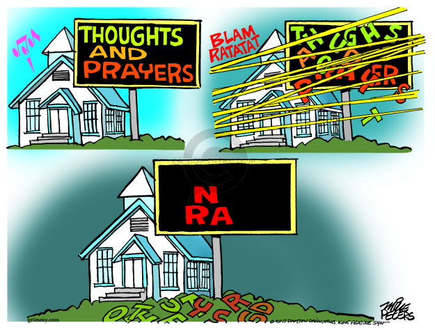 Cartoonist Mike Peters  Mike Peters' Editorial Cartoons 2017-11-07 gun rights