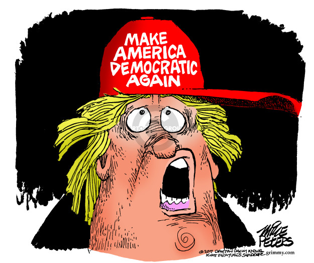 Cartoonist Mike Peters  Mike Peters' Editorial Cartoons 2017-11-09 gubernatorial