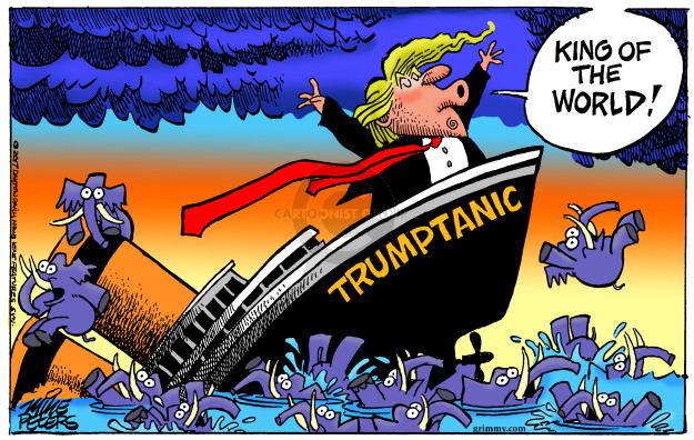 King of the world! Trumptanic.