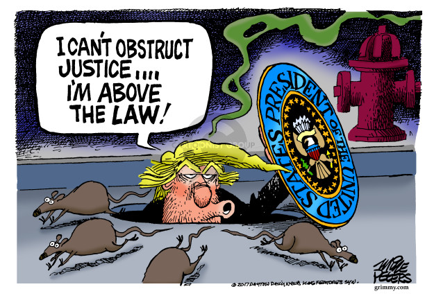 I cant obstruct justice … Im above the law! President of the United States.
