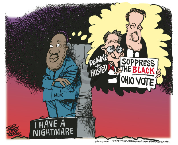 Dewine + Husted. Suppress the Black Ohio vote. I have a nightmare.