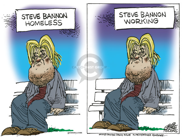 Mike Peters  Mike Peters' Editorial Cartoons 2018-01-12 Steve Bannon
