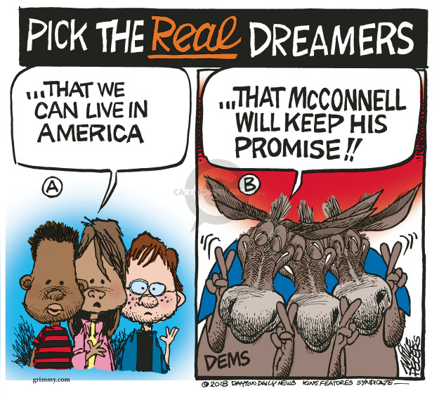 Cartoonist Mike Peters  Mike Peters' Editorial Cartoons 2018-01-24 immigrant