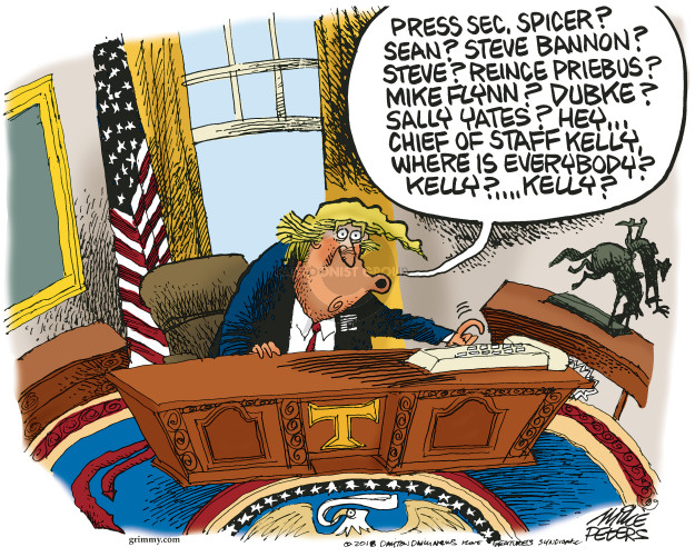 Mike Peters  Mike Peters' Editorial Cartoons 2018-02-14 presidential administration