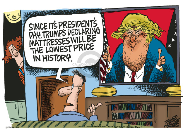 Cartoonist Mike Peters  Mike Peters' Editorial Cartoons 2018-02-19 Donald