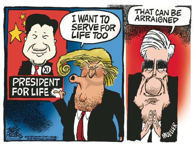 Cartoonist Mike Peters  Mike Peters' Editorial Cartoons 2018-03-09 Russia Investigation