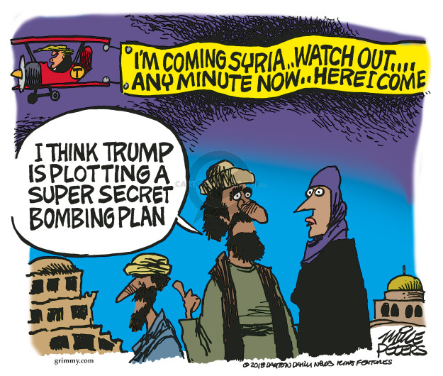 Cartoonist Mike Peters  Mike Peters' Editorial Cartoons 2018-04-12 military plan