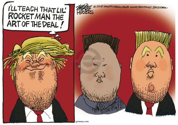 Cartoonist Mike Peters  Mike Peters' Editorial Cartoons 2018-05-11 Kim