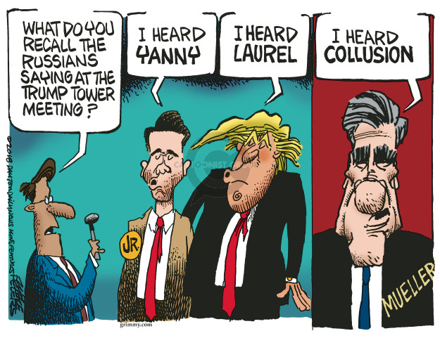 Cartoonist Mike Peters  Mike Peters' Editorial Cartoons 2018-05-21 Russia Investigation