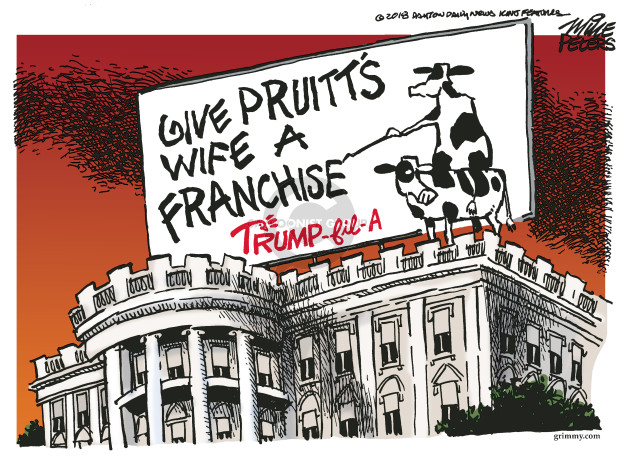 Cartoonist Mike Peters  Mike Peters' Editorial Cartoons 2018-06-07 business