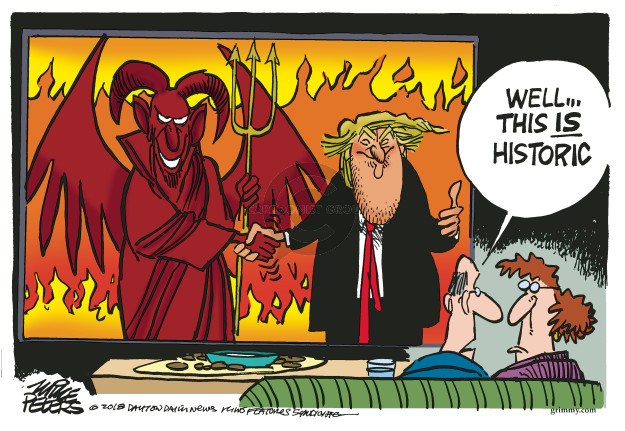 Cartoonist Mike Peters  Mike Peters' Editorial Cartoons 2018-06-13 Kim