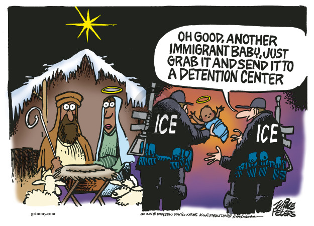 Cartoonist Mike Peters  Mike Peters' Editorial Cartoons 2018-06-19 immigrant