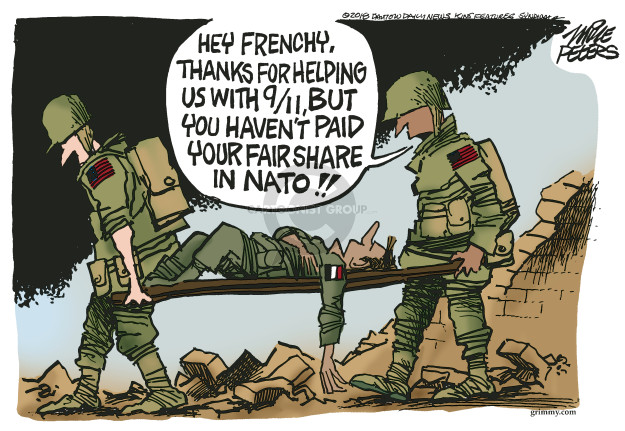 Cartoonist Mike Peters  Mike Peters' Editorial Cartoons 2018-07-11 France