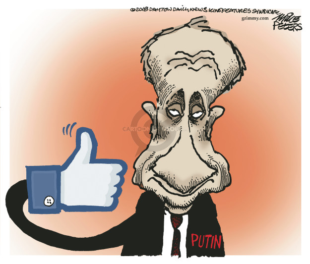 Cartoonist Mike Peters  Mike Peters' Editorial Cartoons 2018-08-01 Russia