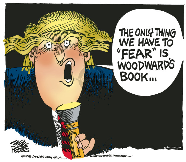 Cartoonist Mike Peters  Mike Peters' Editorial Cartoons 2018-09-05 fear