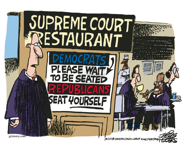 Mike Peters  Mike Peters' Editorial Cartoons 2018-04-18 Supreme Court