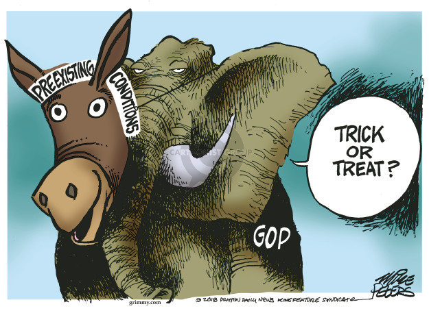 Cartoonist Mike Peters  Mike Peters' Editorial Cartoons 2018-10-25 political party