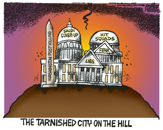 Cartoonist Mike Peters  Mike Peters' Editorial Cartoons 2018-11-21 international affairs
